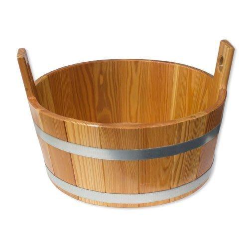 blumenberg saunawanne fusswanne laerche innen und aussen hygieneversiegelung ca 16l - Blumenberg Saunawanne / Fußwanne Lärche, innen und außen Hygieneversiegelung ca. 16l